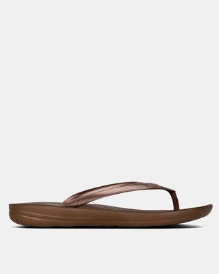 37b45e532 FitFlop iQushion Flip Flops Bronze