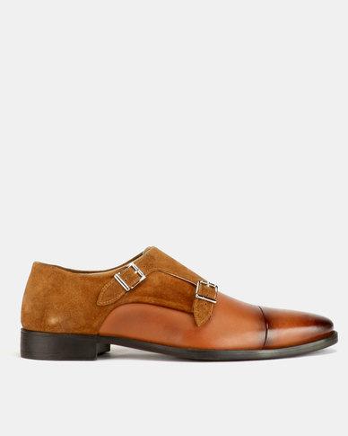 Roberto Morino Sanjo 7 Monk Strap Shoes Tan Zando