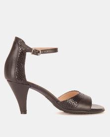 Froggie Raine Heel Sandals Black/Iguana