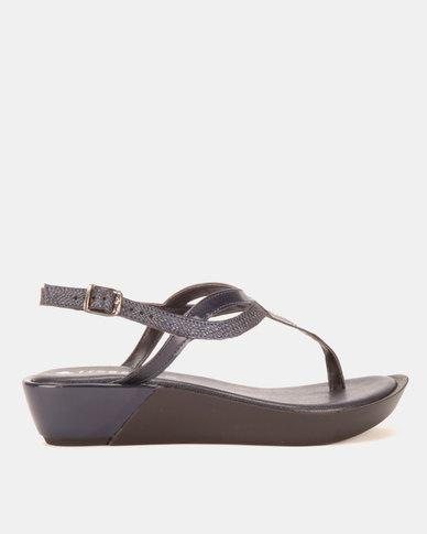 Froggie Rox Wedge Sandals Navy