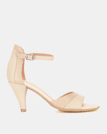 Froggie Raine Heel Sandals Cream/Iguana