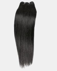 "Bliss Hair 10"" Silver Single Pack Yaki Straight Black"