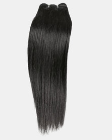 "Bliss Hair 16"" Silver Single Pack Yaki Straight Black"