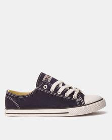 oviet Azalea Ladies Low Cut Slim Sole Sneakers Navy