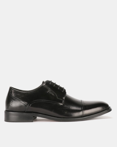 Polo Mens Formal Seam Lace Up Black