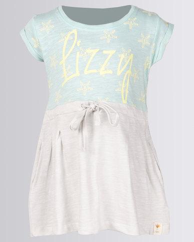 Lizzy Girls Loretta Dress Aqua