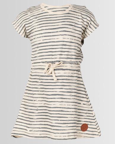 Lizzy Girls Stassi Dress Stone Stripe