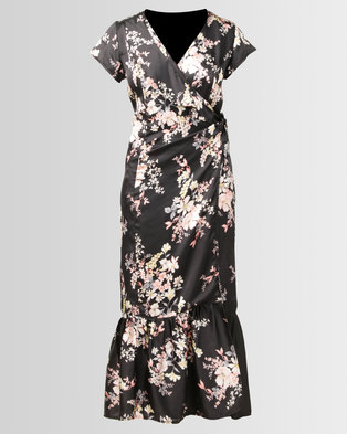 Brava Floral Wrap Maxi Dress Pink . 0d2ad45e9