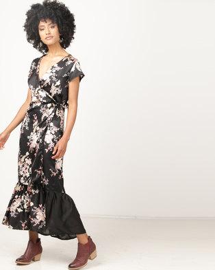 368ad4302b Brava Floral Wrap Maxi Dress Pink Multi