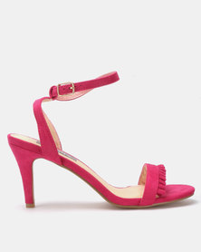 Utopia Frill Barely There Heels Pink