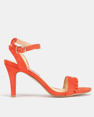 Utopia Frill Barely There Heels Orange