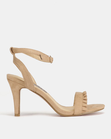 Utopia Frill Barely There Heels Nude
