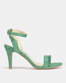 Utopia Frill Barely There Heels Green