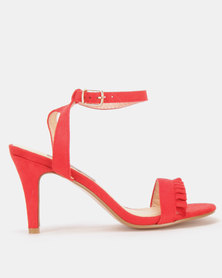 Utopia Frill Barely There Heels Red