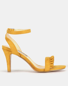 Utopia Frill Barely There Heels Yellow