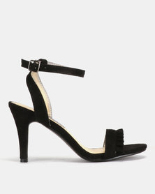 Utopia Frill Barely There Heels Black