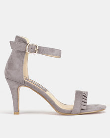 Utopia Frill Heeled Sandals Grey