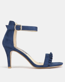 Utopia Frill Heeled Sandals Navy