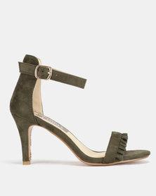 9d17ae44ada Utopia Frill Heeled Sandals Olive