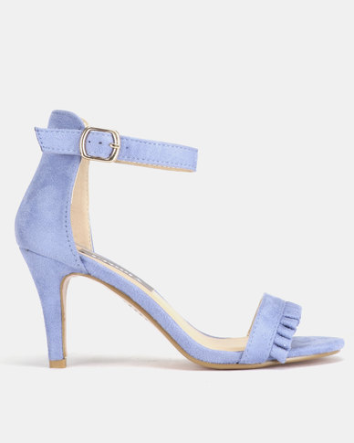 Utopia Frill Heeled Sandals Blue
