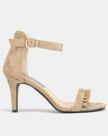 Utopia Frill Heeled Sandals Tan