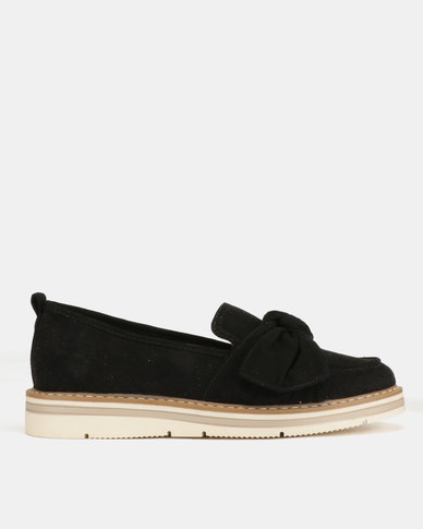 Utopia Knotted Slip On Shoes Black