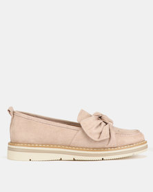 Utopia Knotted Slip On Shoes Pink