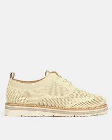 Utopia Lace Up Shoes Beige