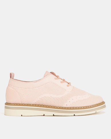 Utopia Lace Up Shoes Light Pink