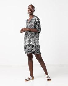 Assuili William de Faye Tunisian Special Design Dress Black/White