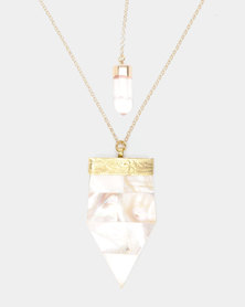 Jupiter Moon Abigail  Necklace Gold-Plated