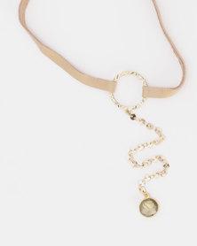 Jupiter Moon Tatum Tan Necklace Gold-Plated