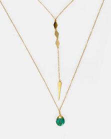 Jupiter Moon Francesca Necklace Gold-Plated
