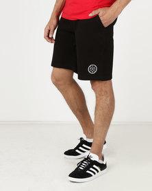 Live Fit Prestige World Wide Sweat Shorts Black