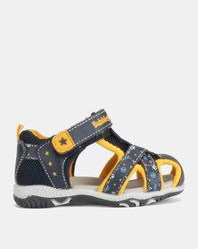Bubblegummers Boys Closed Sandals Navy/Yellow