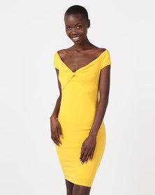 Sissy Boy Bardot Midi Canary Yellow