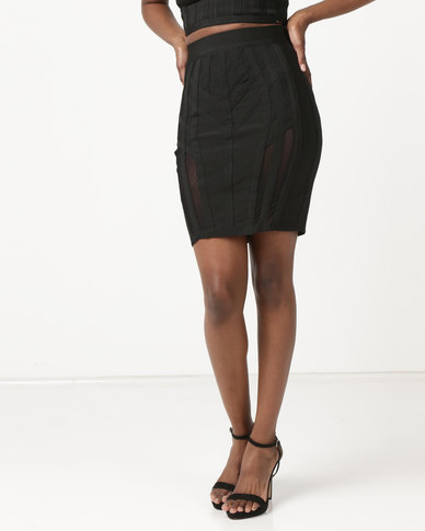 Sissy Boy Bandage Mini Skirt Black