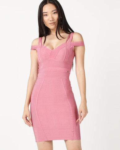 Sissy Boy Bandage Dress With Multi Straps Pink
