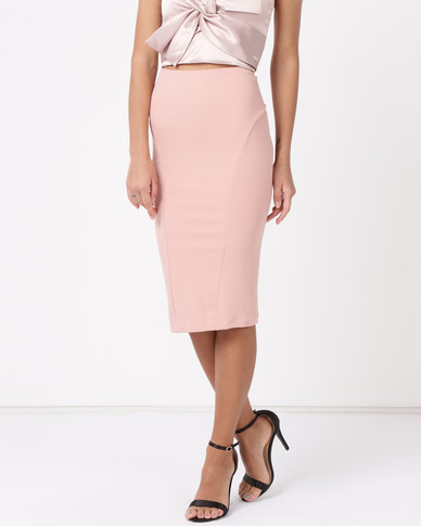 Sissy Boy Boity Fitted Scuba Midi Vintage Rose