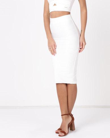 Sissy Boy Boity Midi Skirt Off White