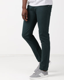 New Noble Slim Fit Trousers Green