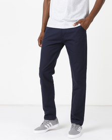 New Noble Slim Fit Trousers Blue