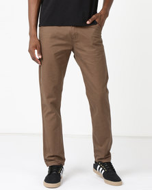 New Noble Slim Fit Trousers Brown