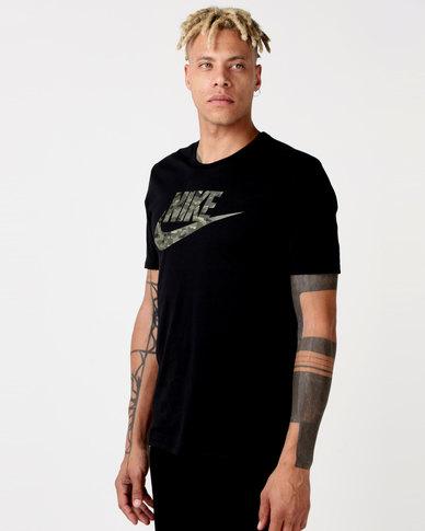 7733f28a Nike NSW Tee Camo Pack 2 Black/Neutral Olive   Zando