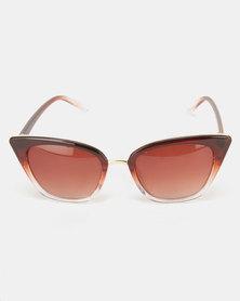 Utopia Fashion Cat Eye Sunglasses Brown