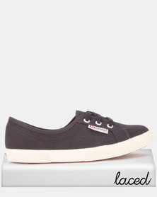 Superga Canvas Pumps Navy Blue