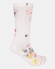 Stance Just Dandy Crew Socks White
