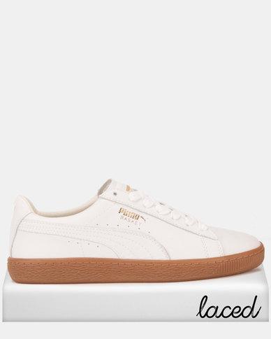 best website 4f3e9 7a68e Puma Sportstyle Prime Basket Classic Gum Deluxe Sneakers Puma White-Met
