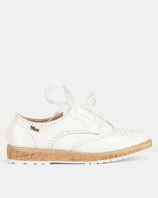 PLUM Lace Up Shoes White