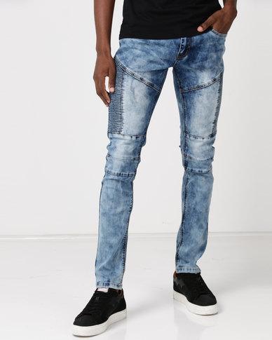 Soviet M Dubstep Skinny Leg Denim Jeans #4 LT Indigo